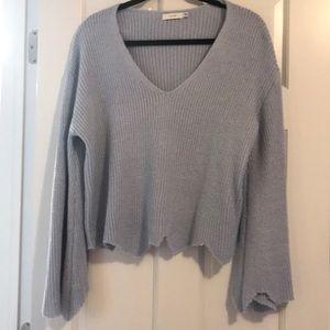 Light blue trendy sweater